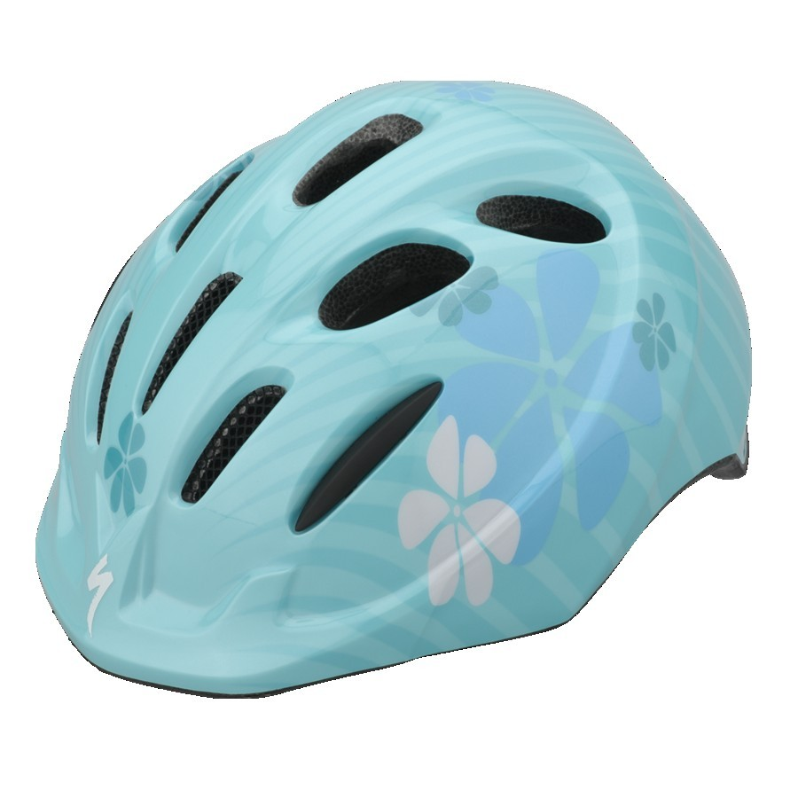 "Review of the Spawn Cycles Banshee (16"" wheeled bike)-specialized-small-fry-teal-helmet-2013.jpg"