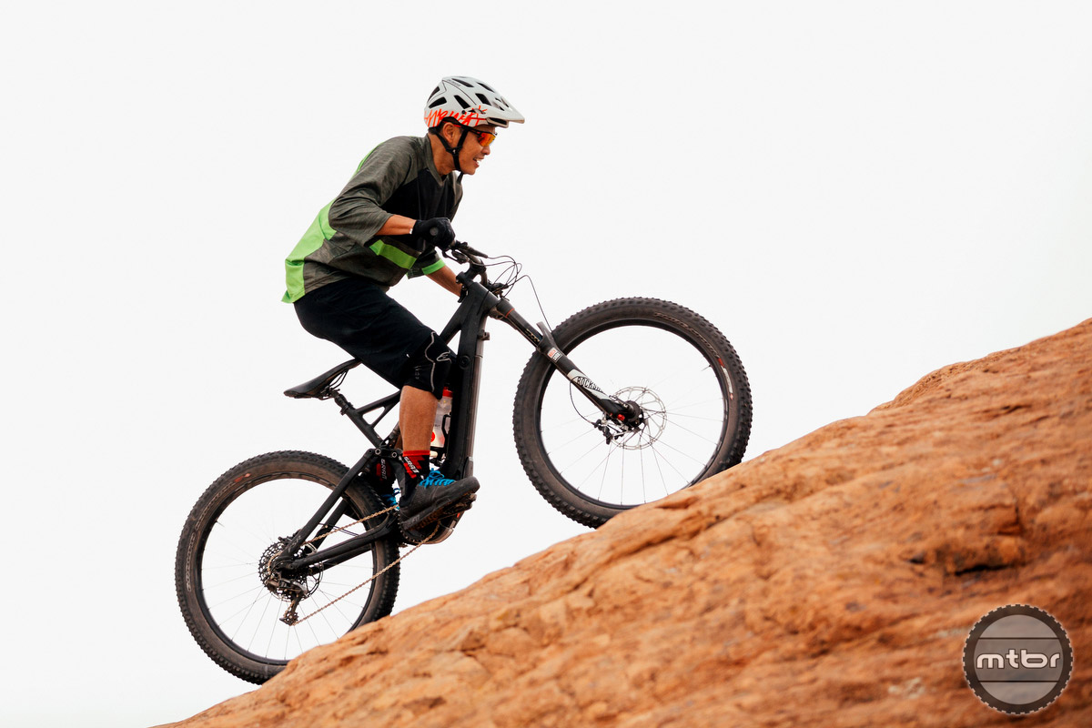 """The new e-specific models are the 34 27.5"""" in a 120 or 150mm chassis, a 120mm 29er 34mm, or a 160mm travel 29er 36."""