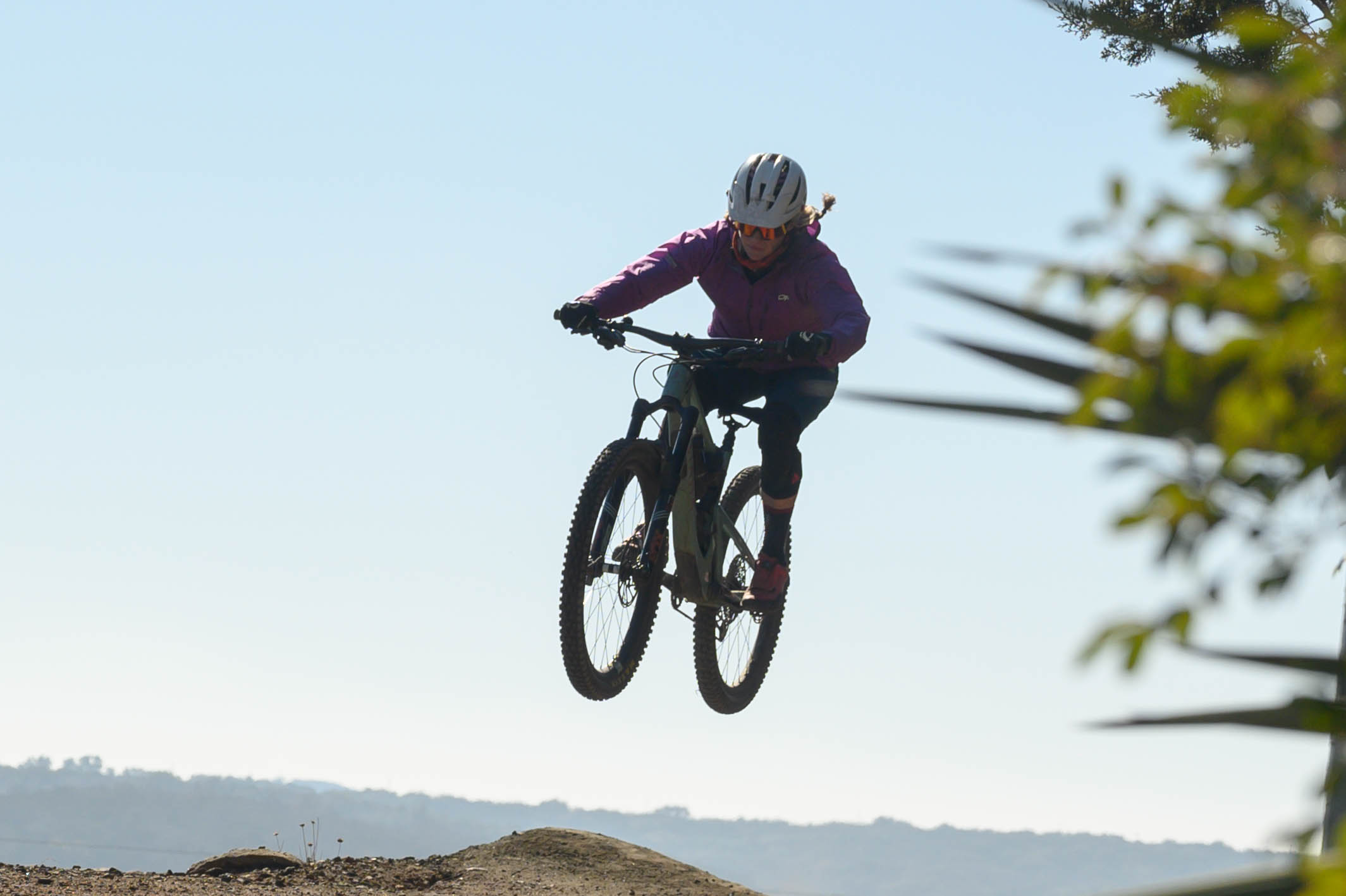 Emma Dunn, boosting one of the many jumps on Venom trail. She saw her first armadillo shortly after this, which was a bit too squished by a truck to make the photo gallery.