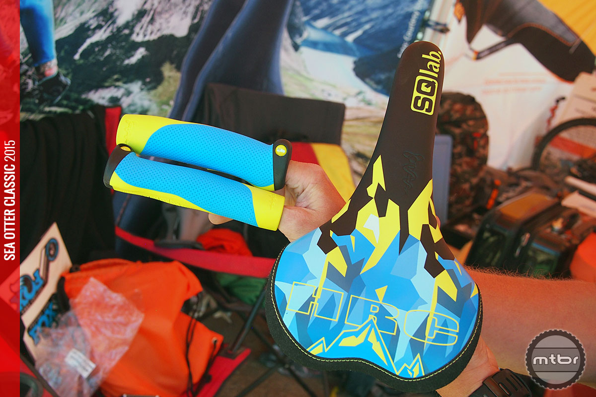 SQlab's Hans Rey Signature Edition grips and saddle.