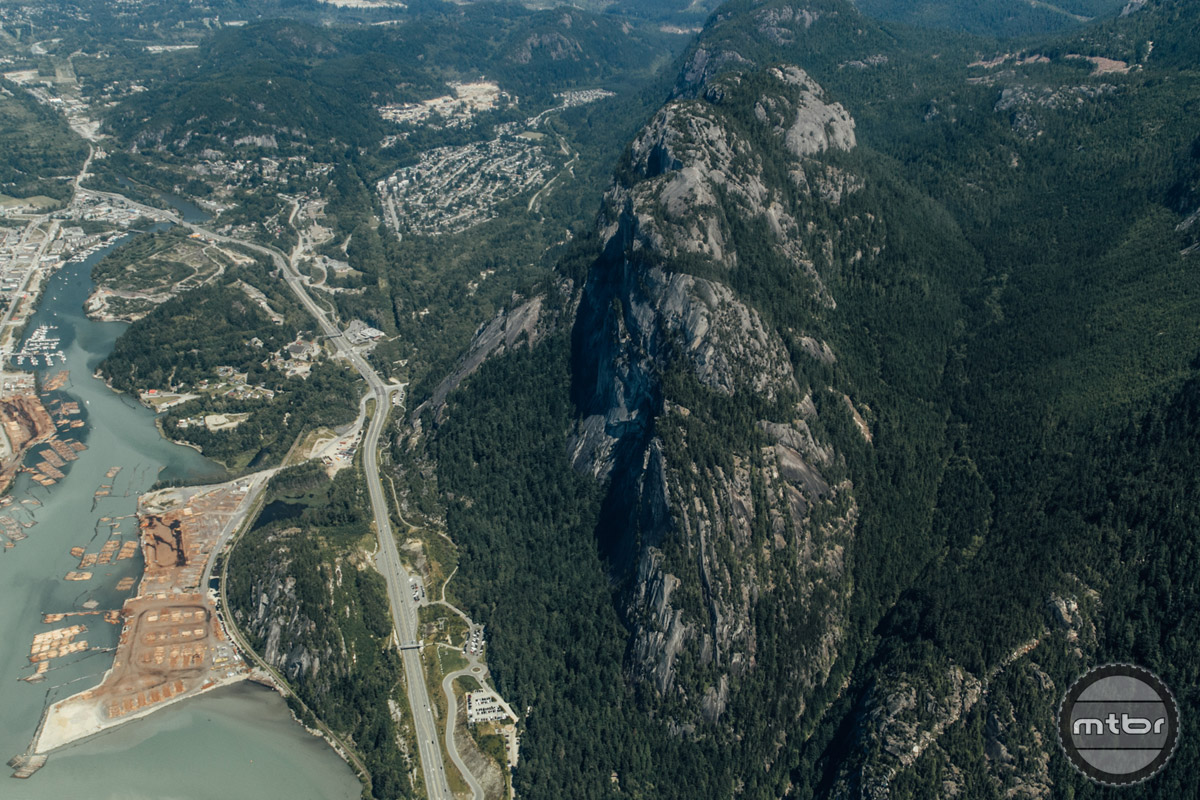 You know you've hit Squamish when you see this, The Chief. It's a 2,297 ft/700m tall granite dome that towers over the Sea to Sky highway.