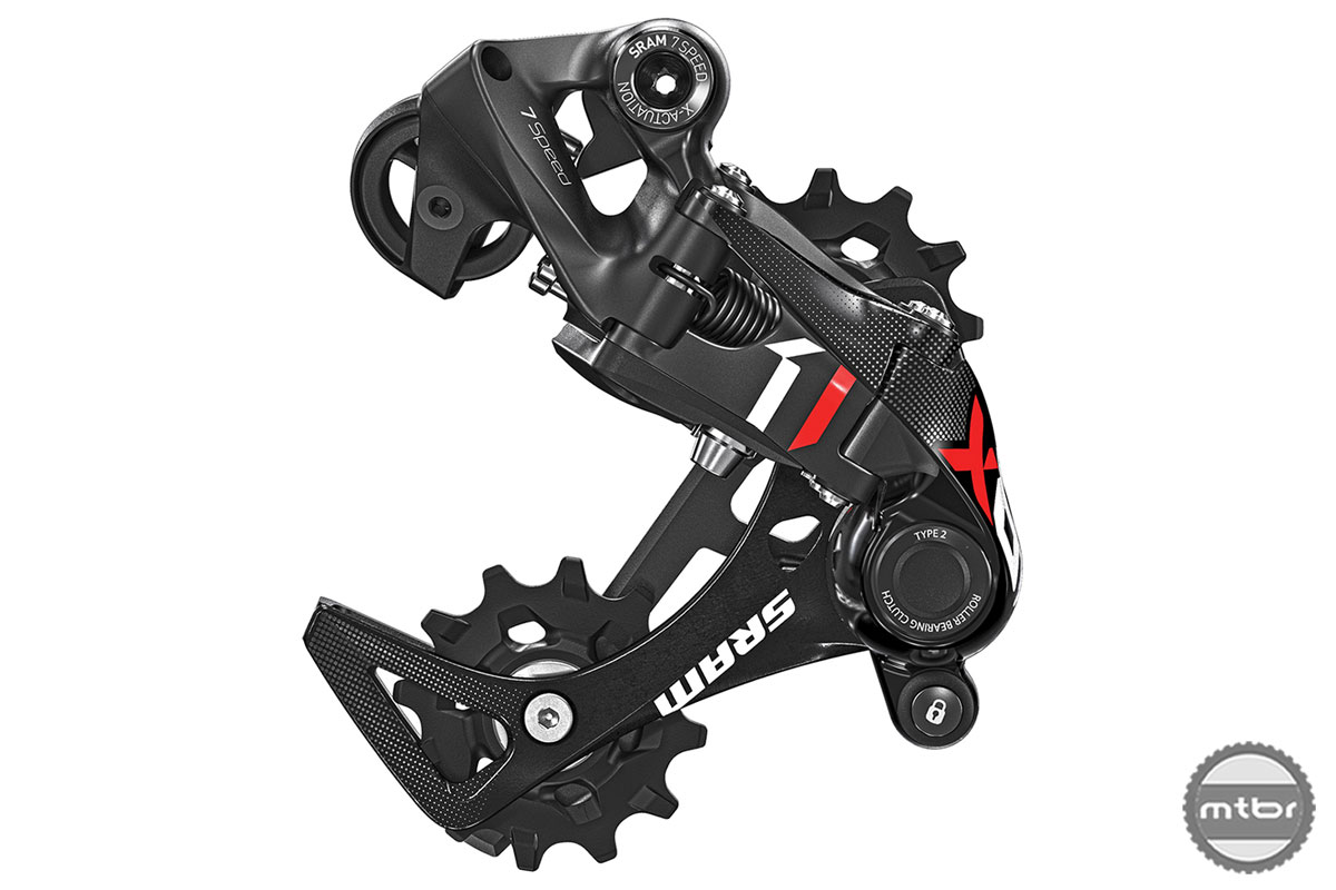 SRAM MTB X01 DH Rear Derailleur 7sp Red