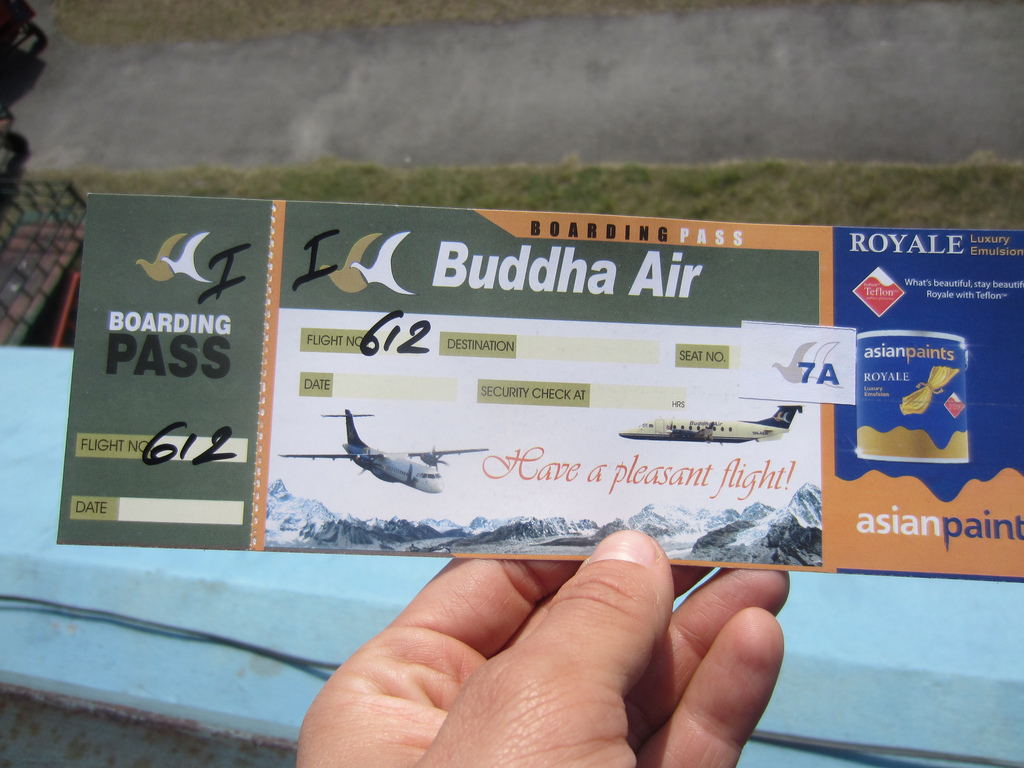Stage 10 Airplane Ticket