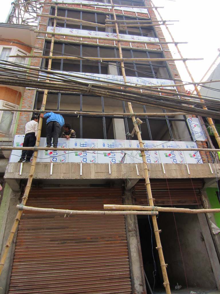 Stage 3 Bamboo scaffolding