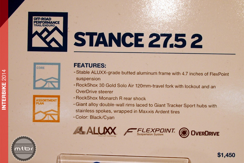 Giant Stance 2 - specs