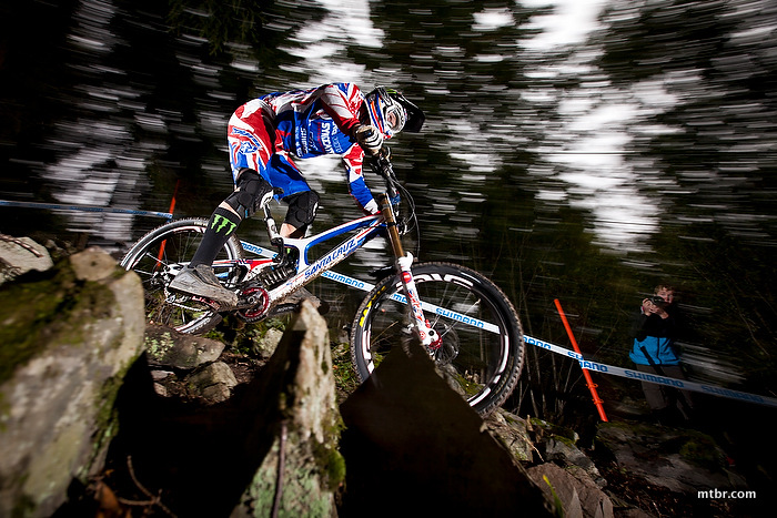 Steve Peat at UCI World Cup, MTB, Hafjell Norway, 2012, World Champs