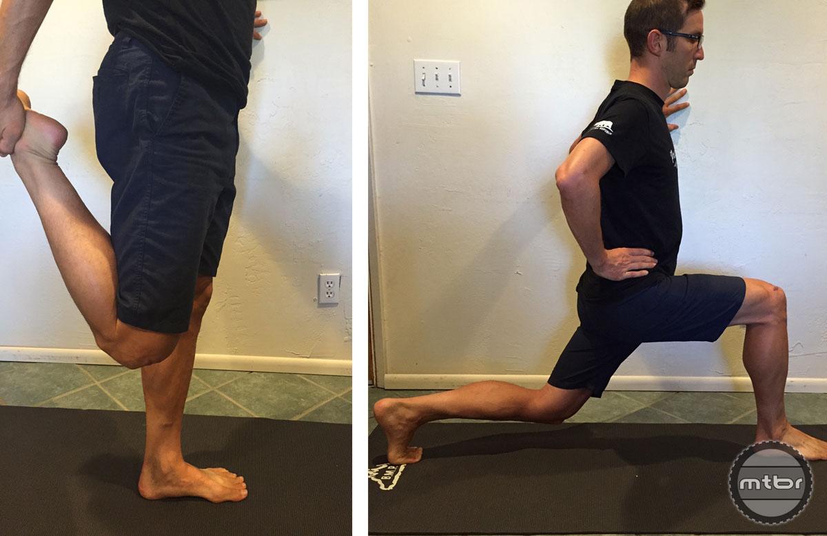 Quad and hip flexor stretch.