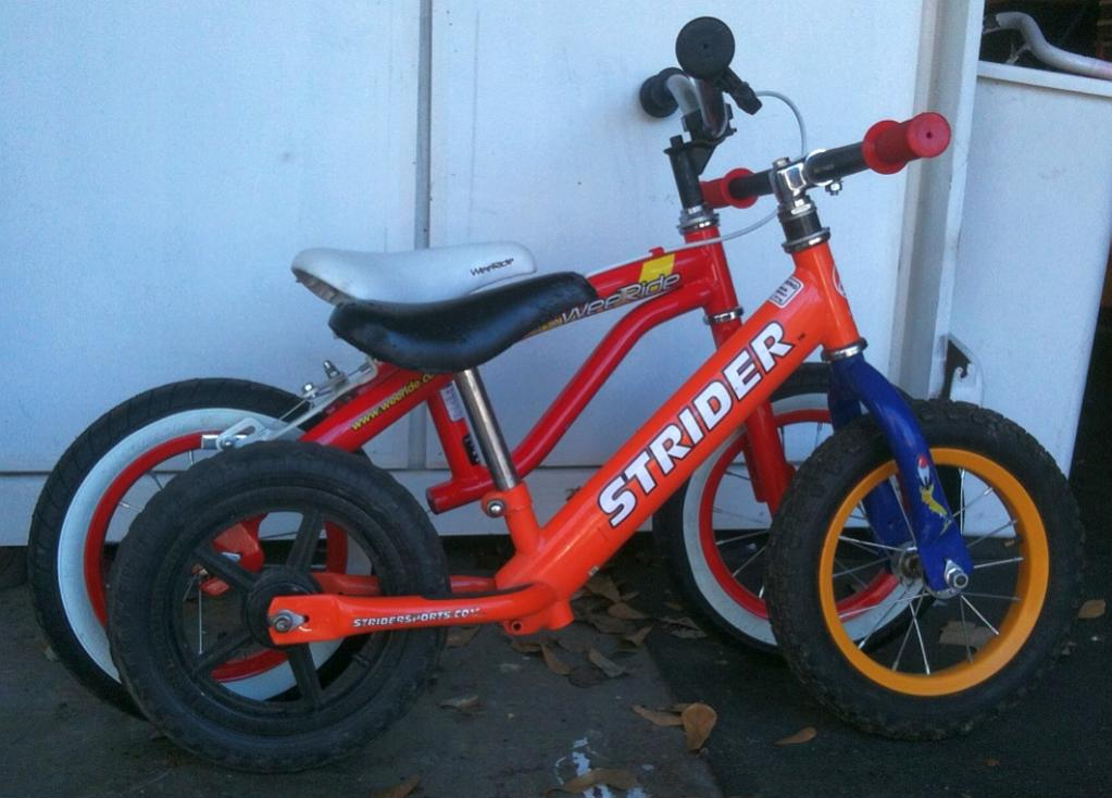 Strider Sports push-bike mods....getting my 3 year old on the trails!-strider_weeride_side_x_side.jpg
