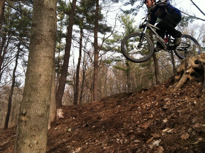 One picture, one line.  No whining. Something about YOUR last ride. [o]-stump-jump.jpg