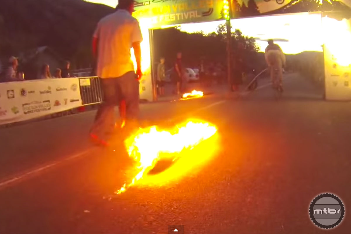 Flaming Log Pull