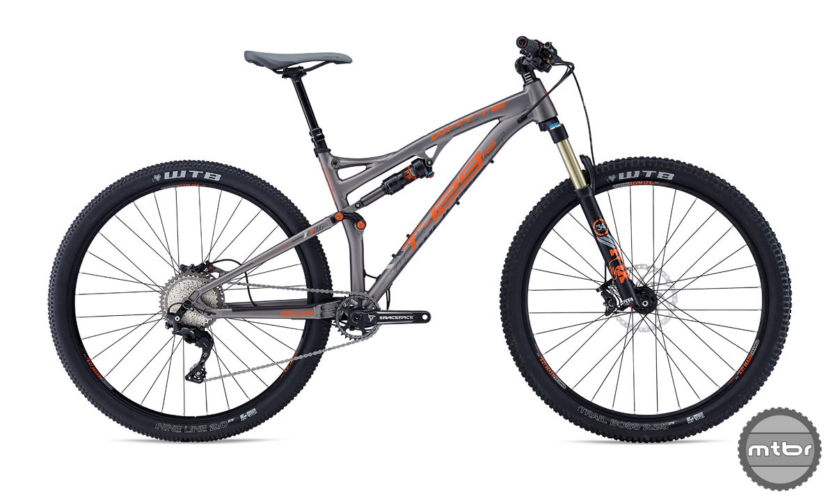 Spec includes a 120mm Fox 34 fork, Fox Float shock, Shimano 1x XT drivetrain, and RockShox Reverb 125 Stealth dropper post.