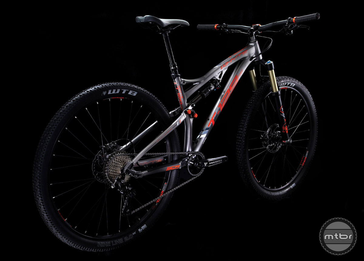 Whyte says the T-129 RS 29er trail bike's long front centers, short chainstays, and slack head tube angles paired with short stems offer a trail worthy 29er.