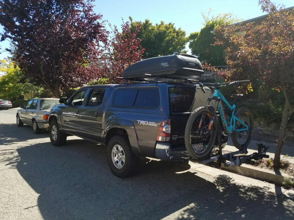 by present roof cab double arb tacoma toyota rack
