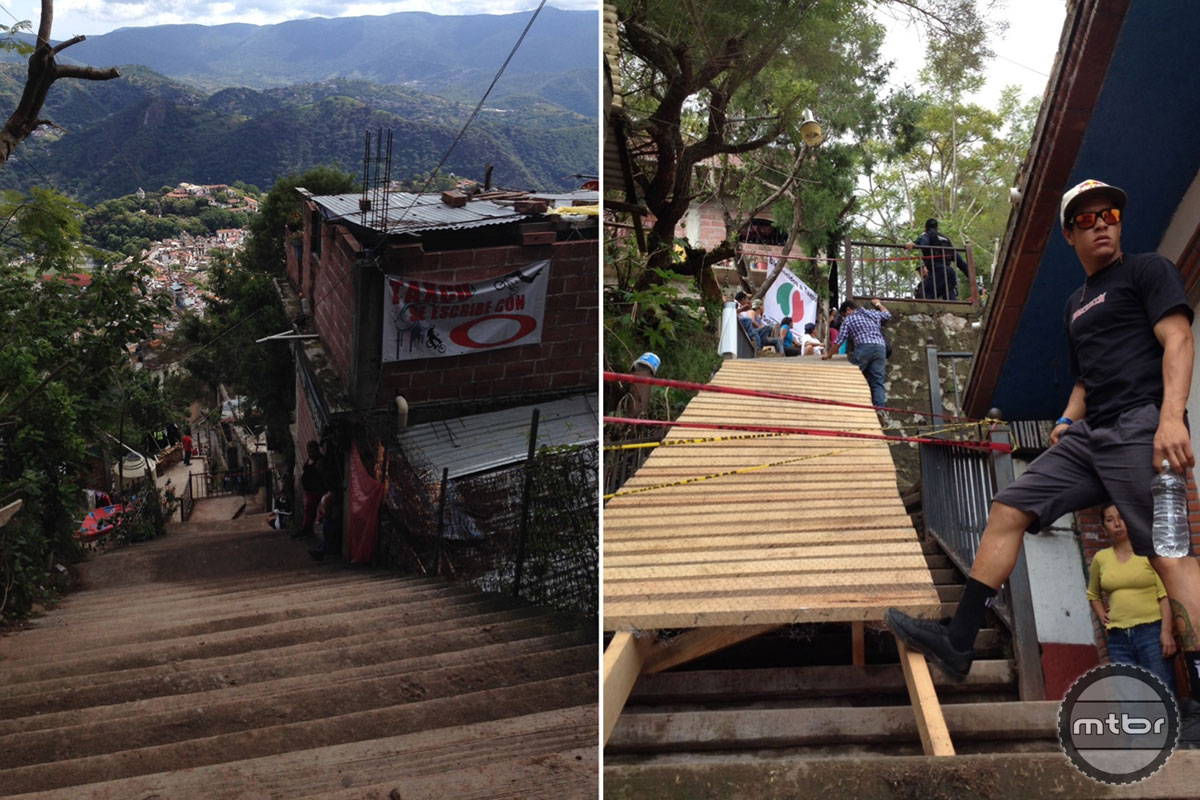 The pre race course walk revealed two Taxco staples--stairs and wooden features. Photos by Jon Buckell