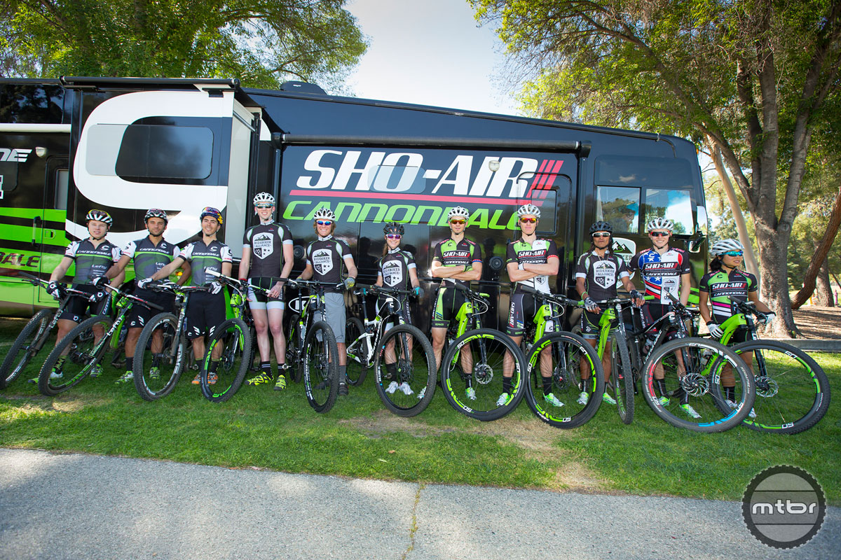 The Sho-Air/Cannondale Professional mountain bike racing team.
