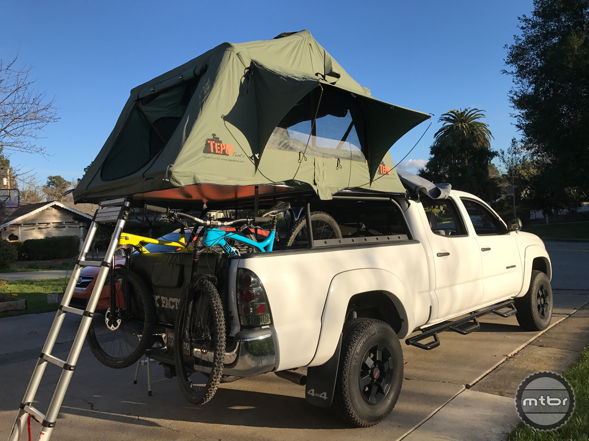 Tent On Top Of Vehicle : Setting up a tepui rooftop tent video mountain bike