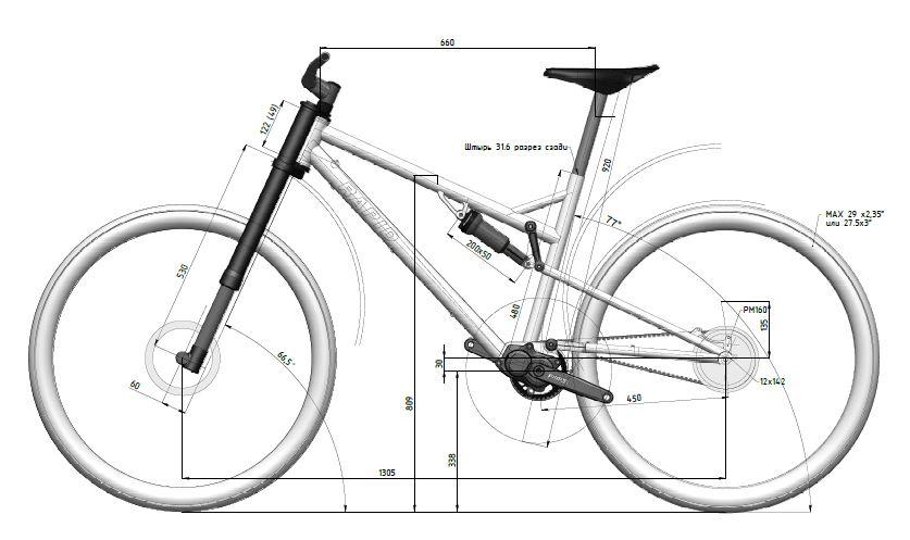 27.5+ fullsuspension Pinion + Gates Titanium bike- Mtbr.com