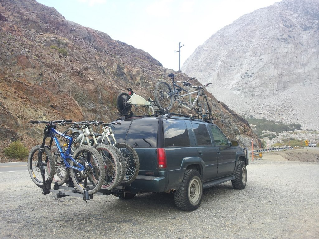 Custom Tandem Roof Rack: Carries the Tandem with the Wheels On!-ride.jpg
