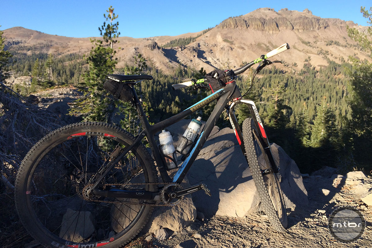 The Angry Singlespeeder's whip--an Ibis Tranny with Rock Shox RS-1. Photo by James Adamson