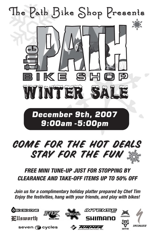 the path bike shop flyer, page 1
