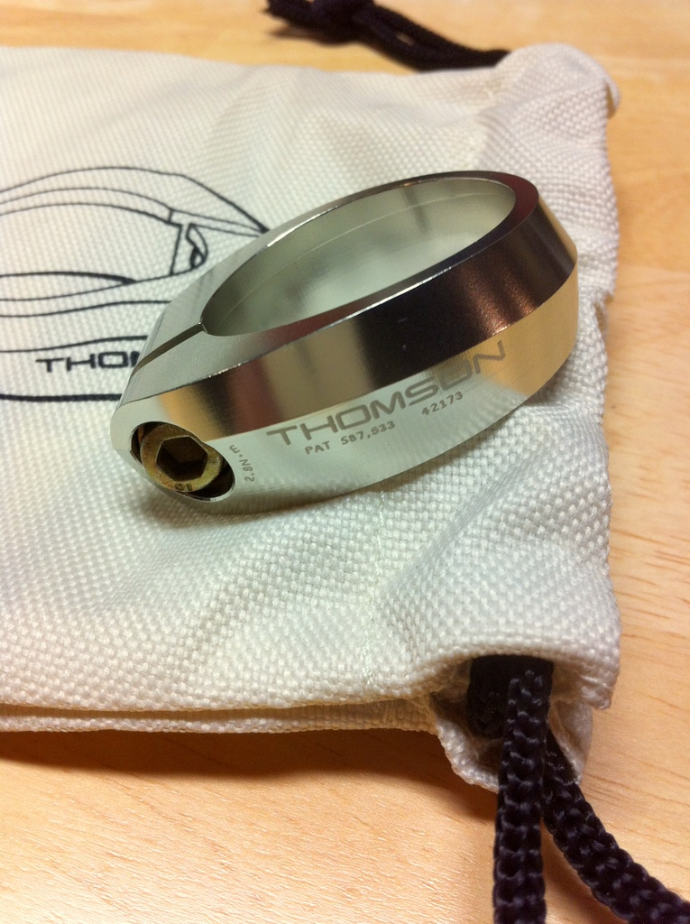 Thomson Seatpost Collar.  Nothing exciting here unless you're a bike geek.