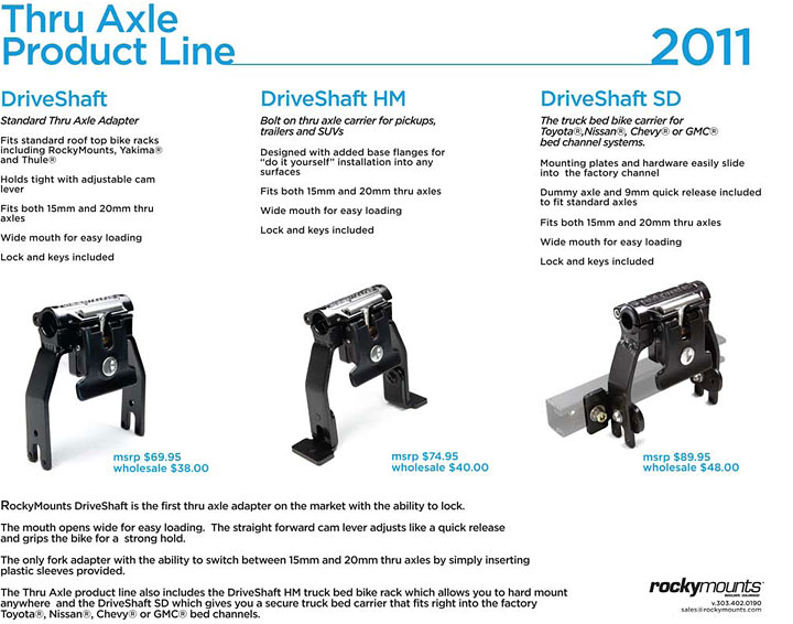 Thru Axle Drive Shaft Products