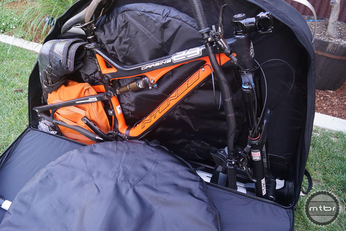 0c9984a296ce Gear Review  Thule RoundTrip Pro bicycle travel bag- Mtbr.com
