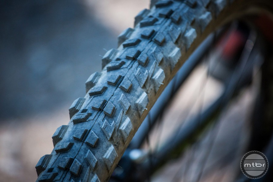 Wider tires are heavier, but provide more traction and the ability to run lower pressure.