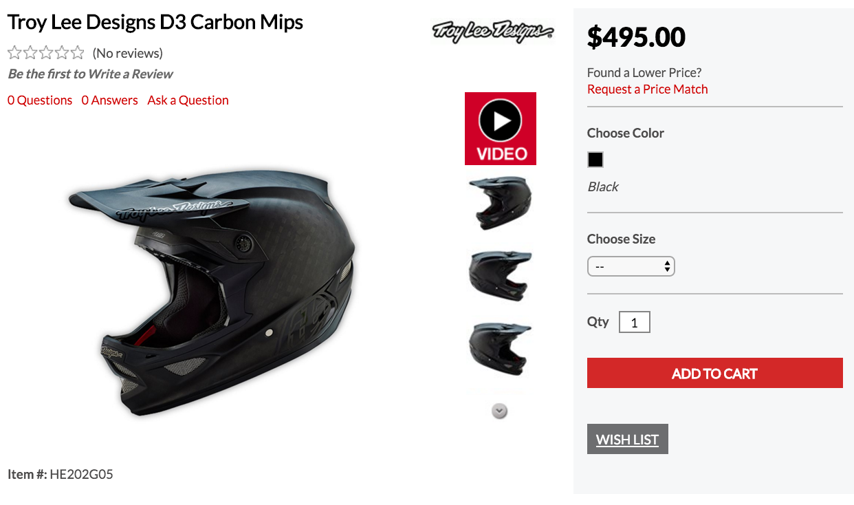 Retail for the MIPS equipped D3 Carbon is set at just under $500.