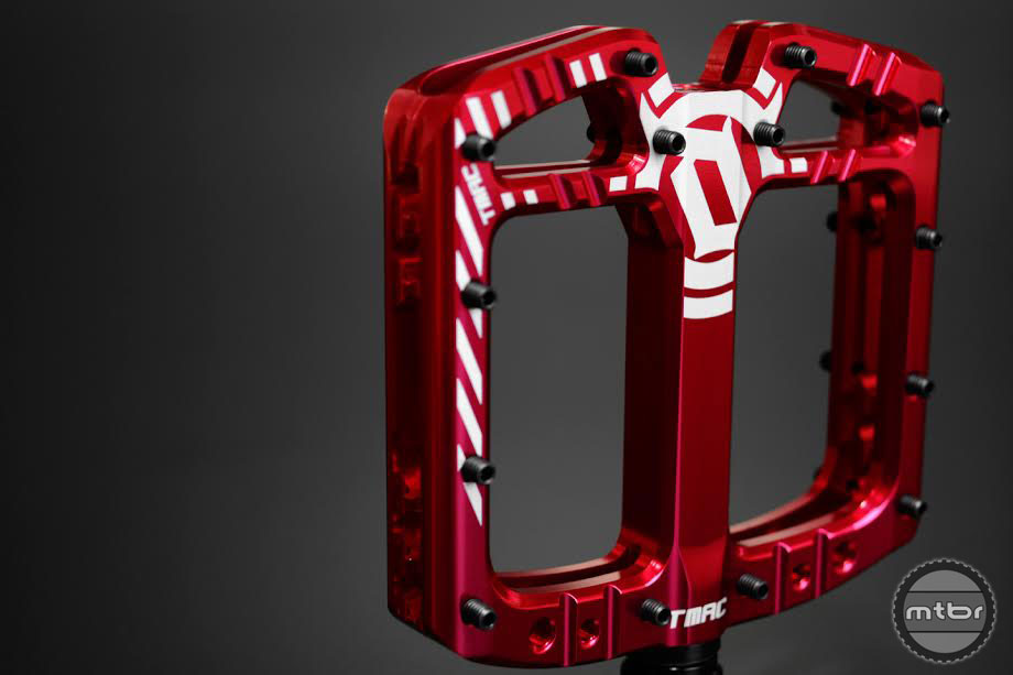 Unlike most platform pedals, the TMAC uses a symmetrical shape that is centered on the axle.