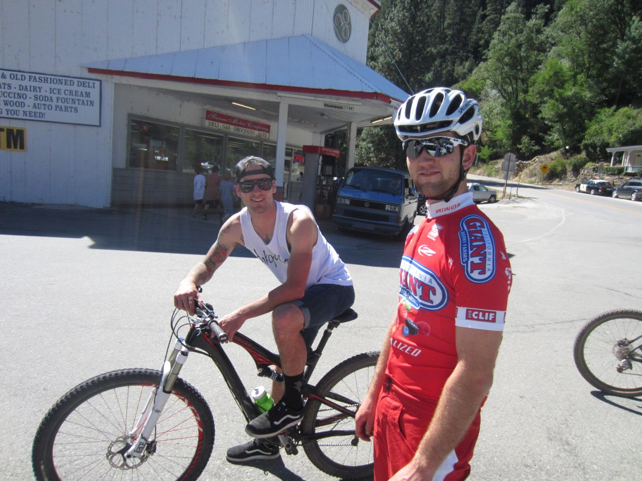 Tobin Ortenblad and John Hauer chillin' in the parking lot.