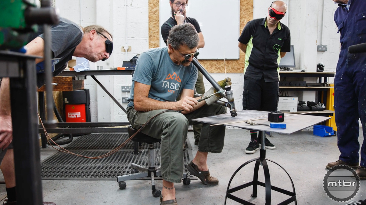 Tom Ritchey builds a bike in Old Skool x New School