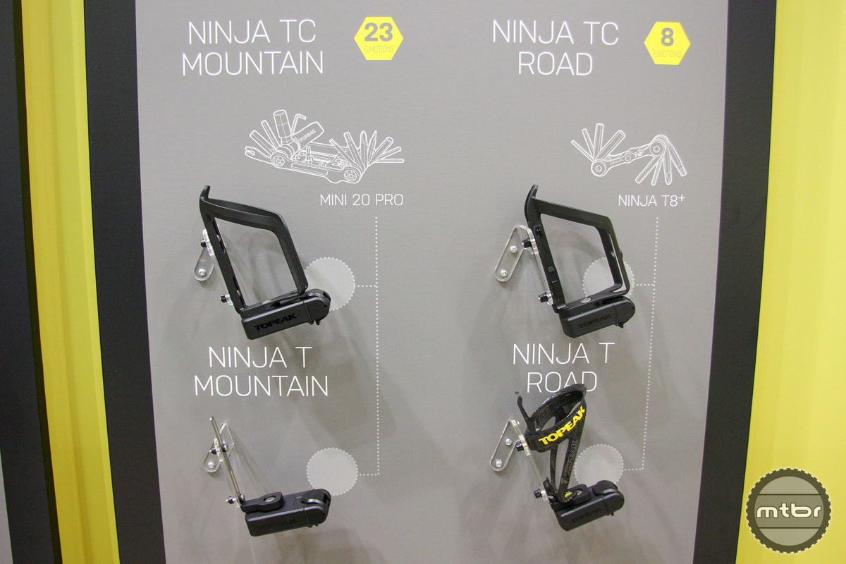 The Topeak Ninja TC Road and Mountain bottle cages mean never again having to dig into your hydration pack or saddle bag to find a multi-tool.