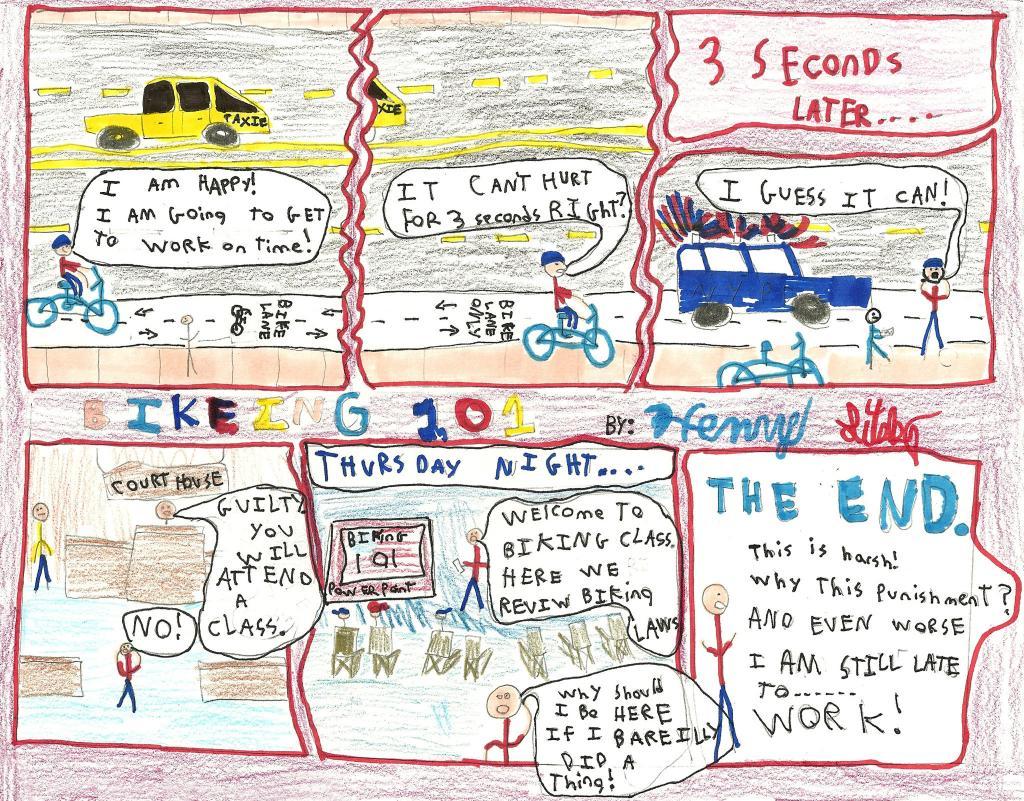 Kids Draw the News - Bikecommuter Ticketed-traffic-class-bikers-superjumbo.jpg