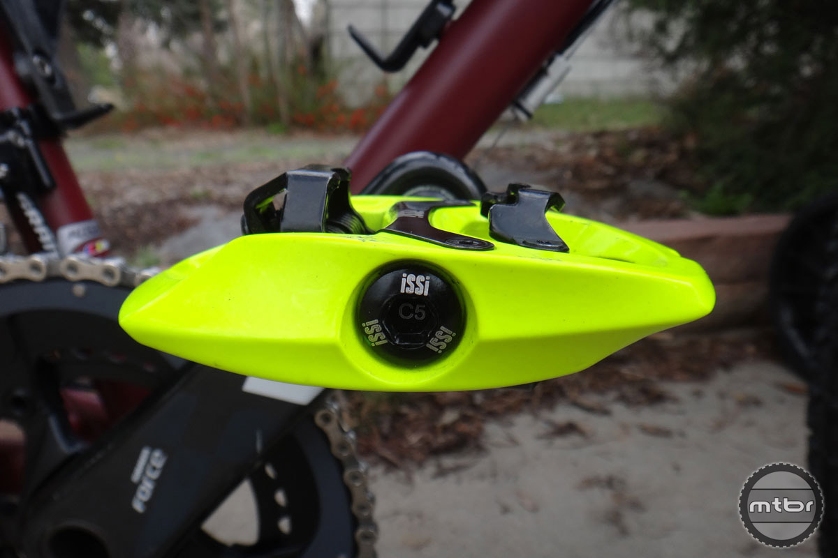 While the aluminum casting appears chunky, the pedals weigh slightly less than Shimano XT Trail pedals.