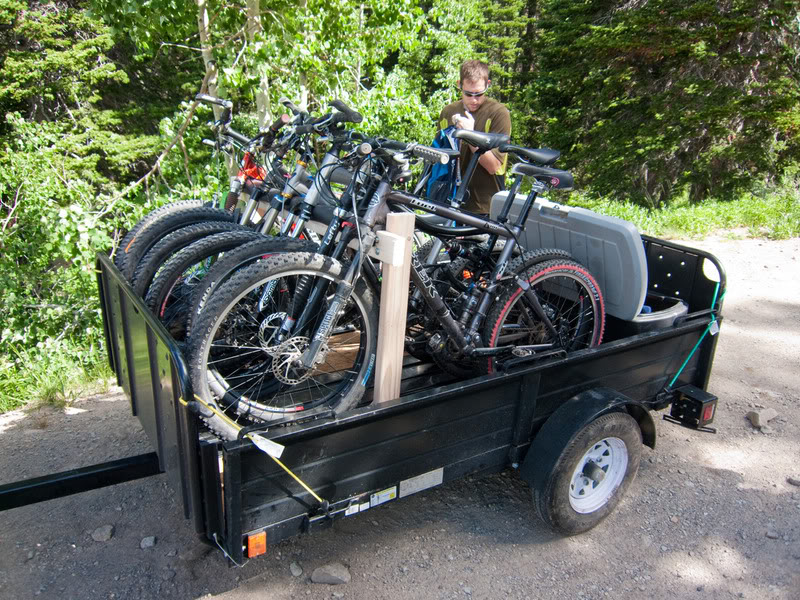 Utility Trailer Setup For 5 Bikes Mtbr
