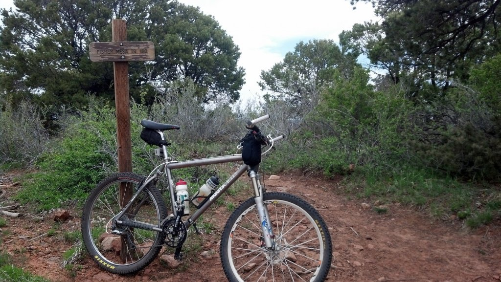 Bike + trail marker pics-trailmarkerfishermesa.jpg