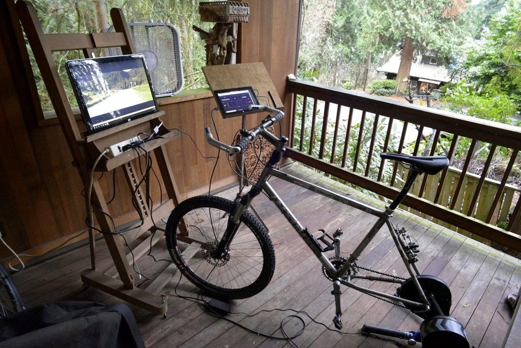 Training with a smart trainer. Tell me what you do.-traineronporch.jpg
