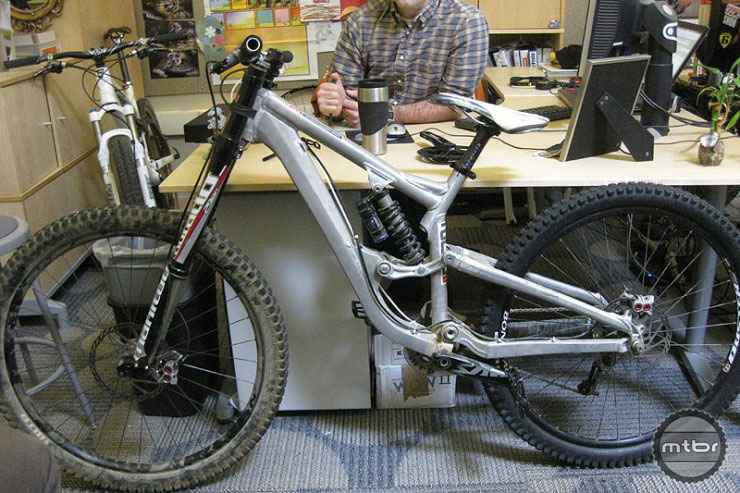"Back in 2011, Trek showed us this 7"" travel 29er downhill prototype."