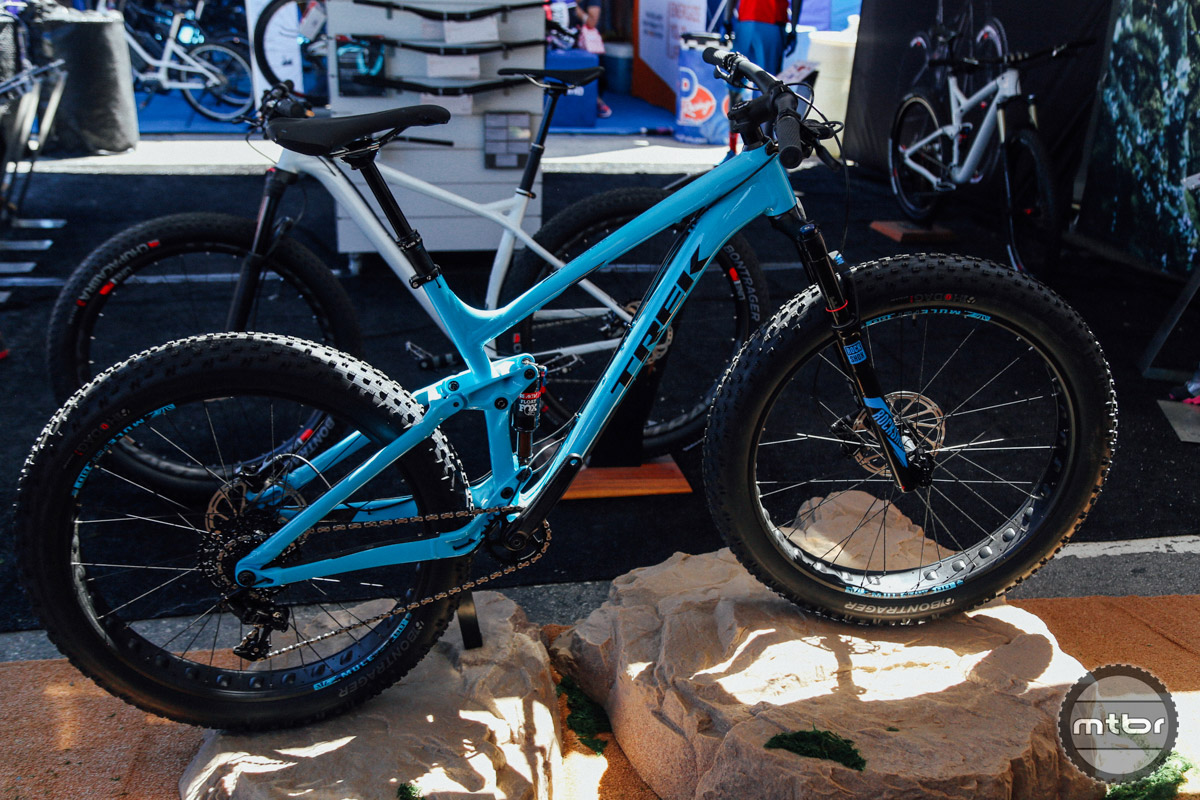 The $3,499 Fuel EX 8 is one of Trek's new full suspension fat bike models.
