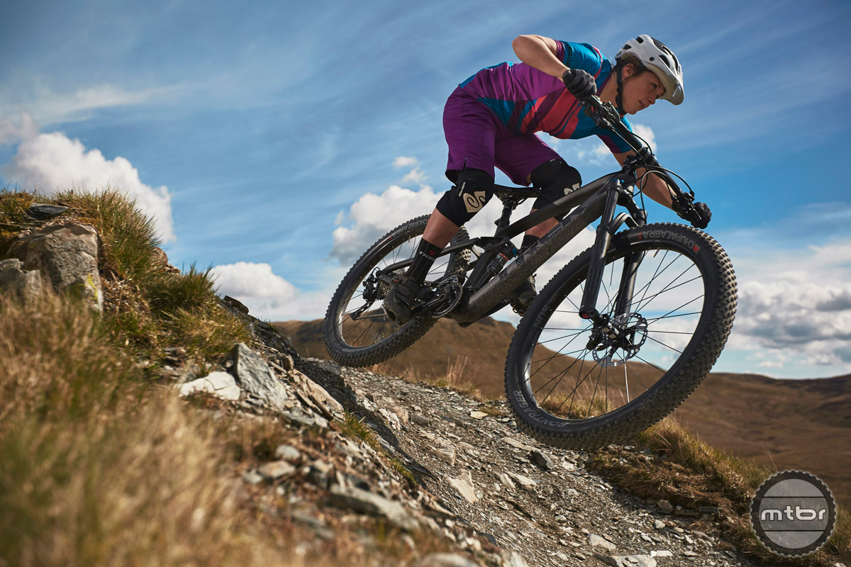 The new plus sized version of the Fuel EX has 140mm of travel up front and 130mm out back.