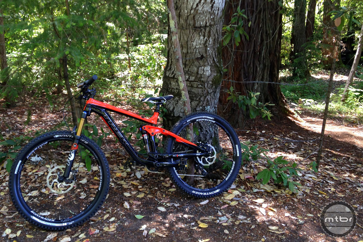 Trek Slash 9 by the Santa Cruz Redwoods