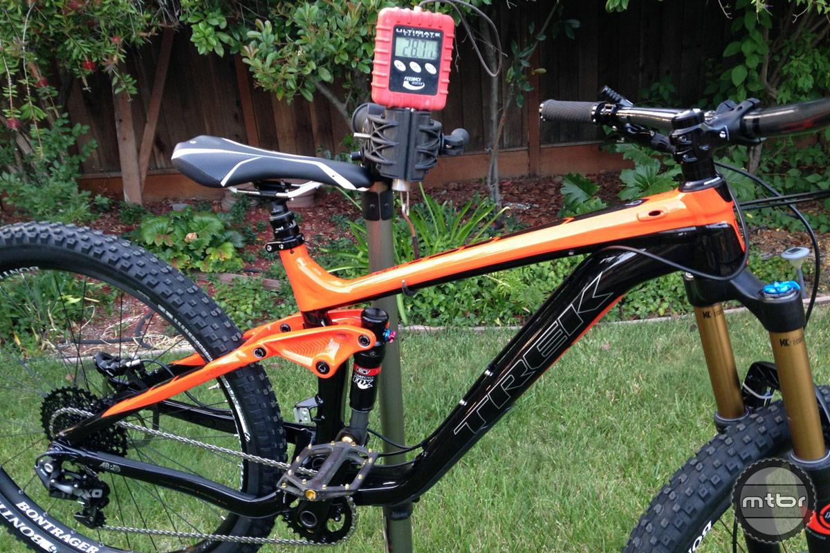Trek Slash 9 Weight with Flat Pedals