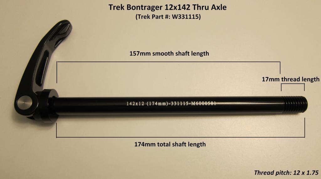 Through axle rear axle Shimano Maxle boost DH 12 x 148-150mm Trek Supercaliber