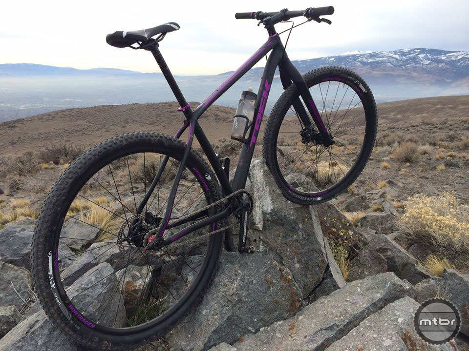 The winding, technical rockiness of Halo Trail on Peavine Mountain above Reno is a perfect testing ground for how a bike handles.