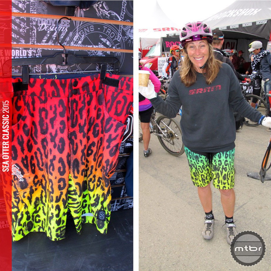 These wild shorts were hard to miss: The Troy Lee Designs Speeda, in his and hers (on none other than TLD athlete and former world champion, Leigh Donovan).