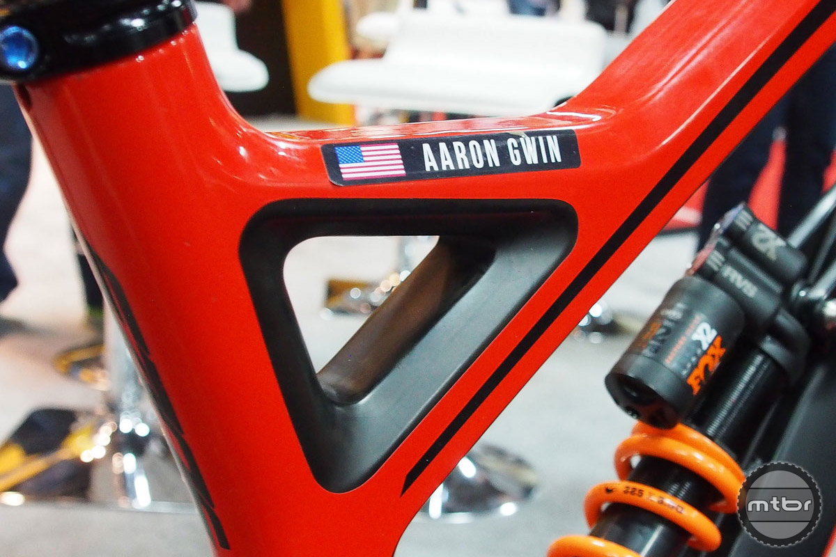 When Aaron Gwin is on the team, you give him what he wants.