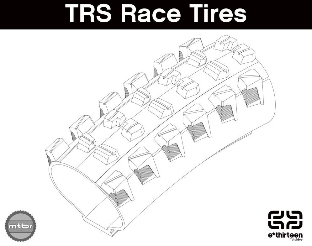 Here's a cross section of the just finalized TRS race tire. Photo courtesy of e*thirteen