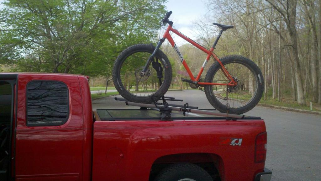 How To Haul My Fat Bike In A 5 5ft Truck Bed Rack3
