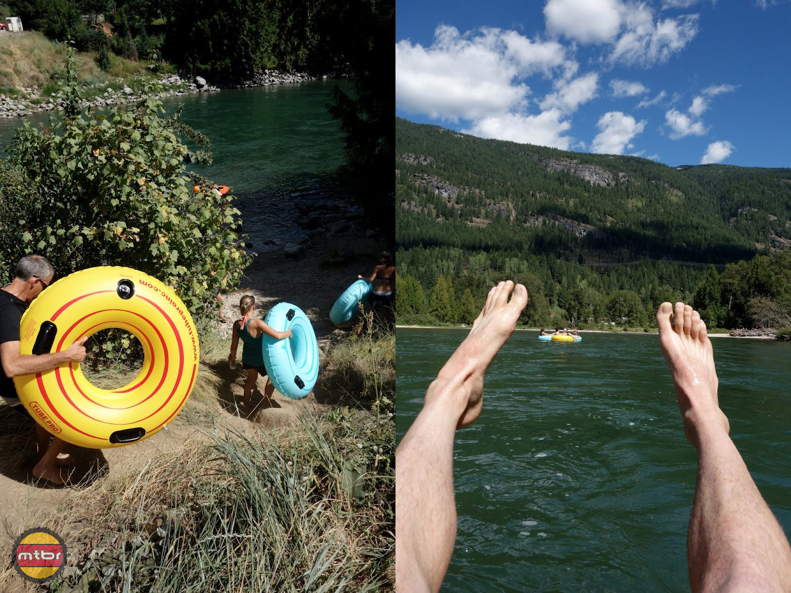 Tubing on Slocan River